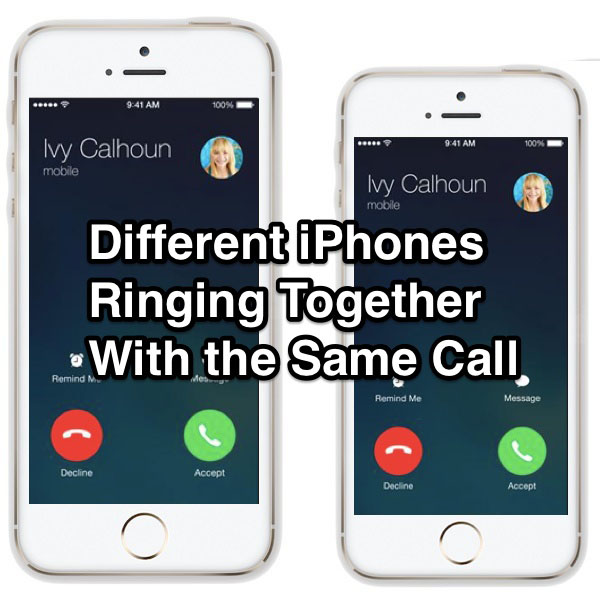 Two Iphones Ringing