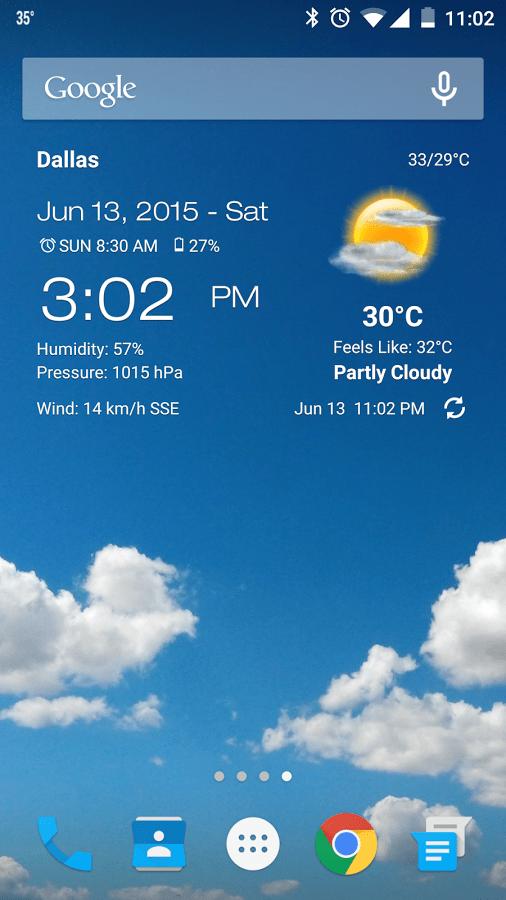 Weather & Clock Widget2