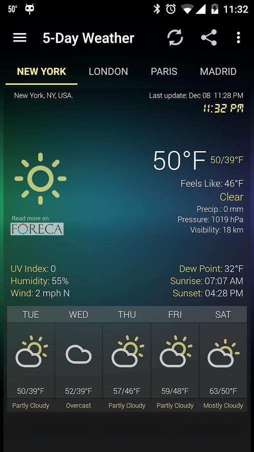 Скачать бесплатно All Weather для Android. Погода, виджеты для Андроид , , ,