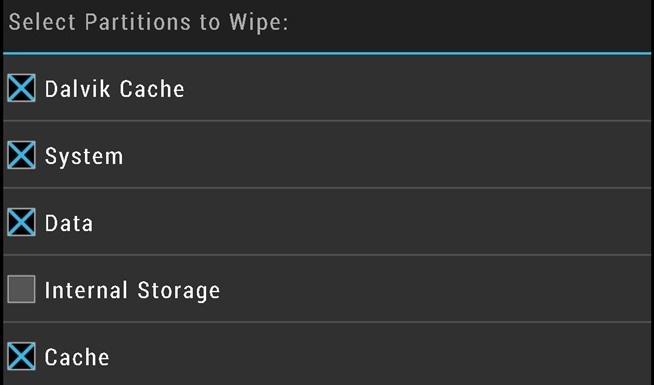 TWRP internal storage unchecked