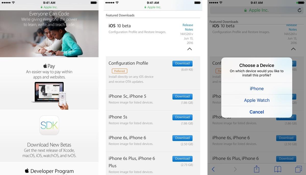 iOS 10 install