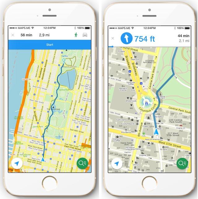 LISTE DES APPLICATIONS MOBILES POUR LES BALADES MOTO Maps-me-iPhone