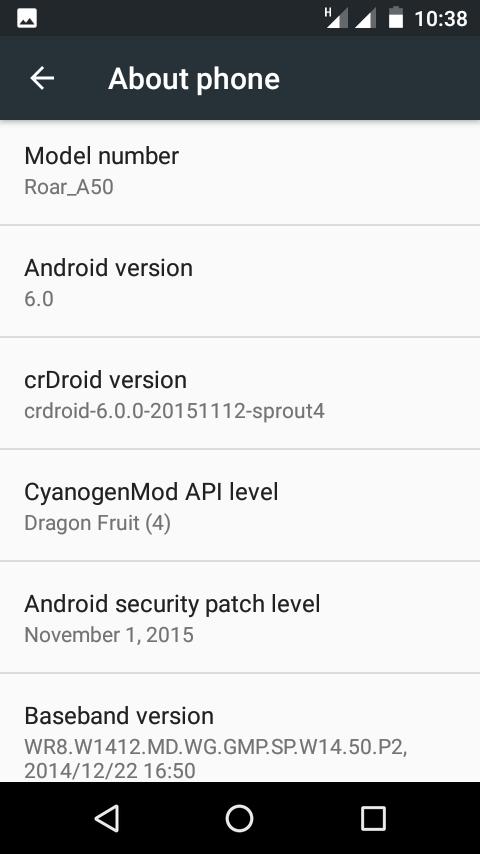 Crdroid ROM 6.0