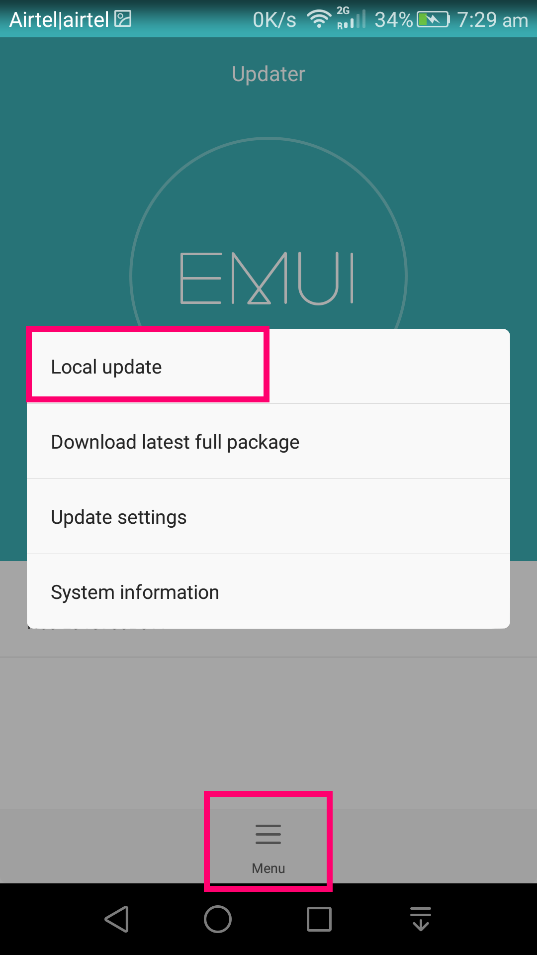 Huawei Local update