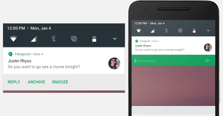 Android N direct reply