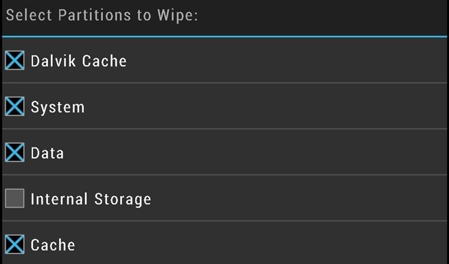 TWRP internal storage unchecked