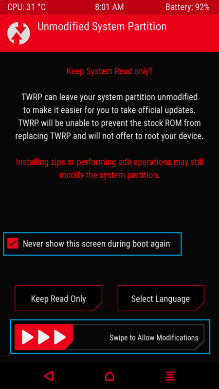 Letv Le 2 Unmodified System Partition