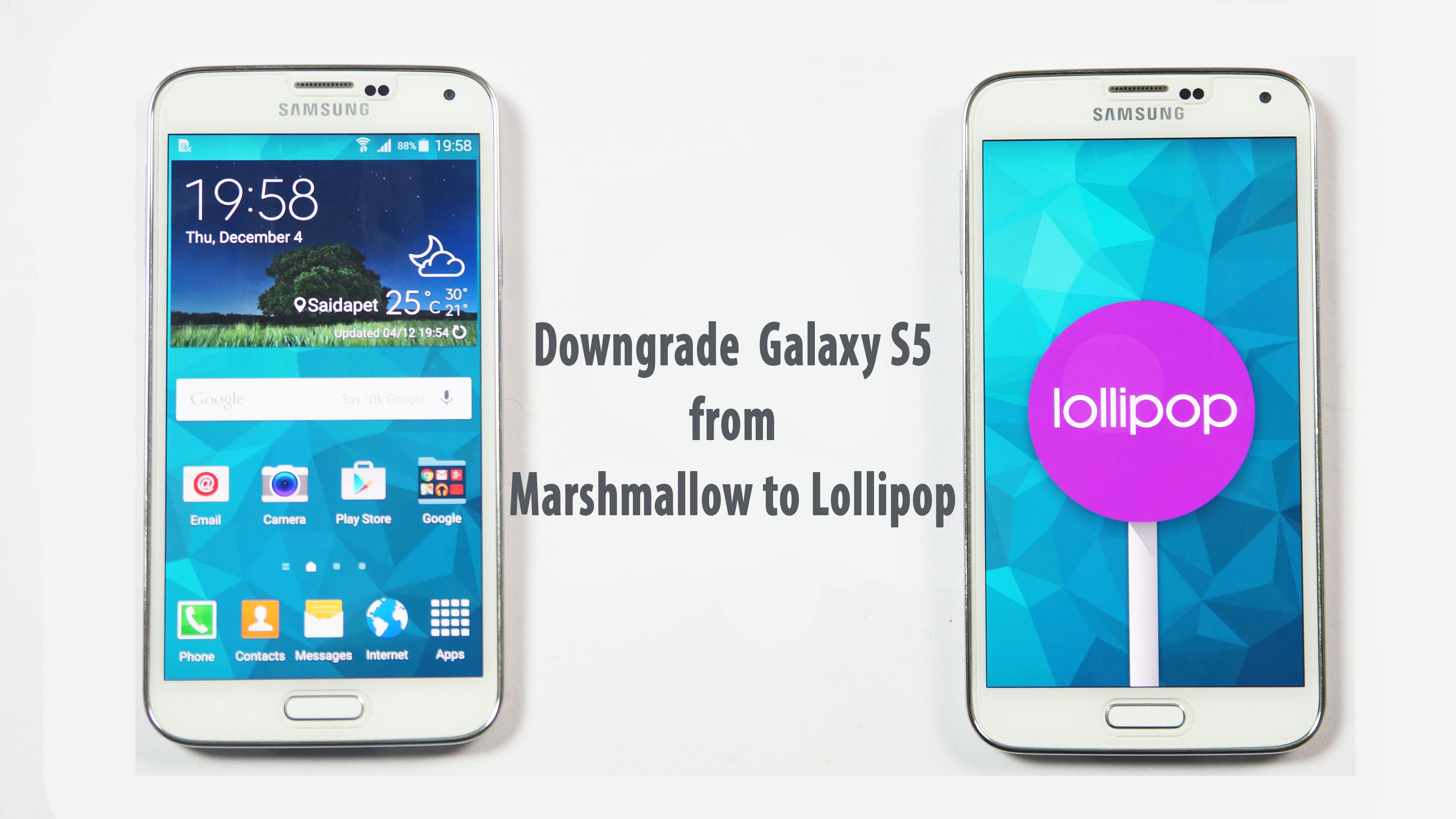 Downgrade Samsung Galaxy S5 to official Lollipop 5 0